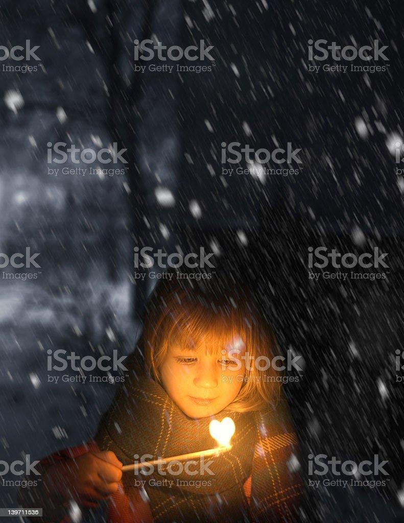 little match stick girl royalty-free stock photo