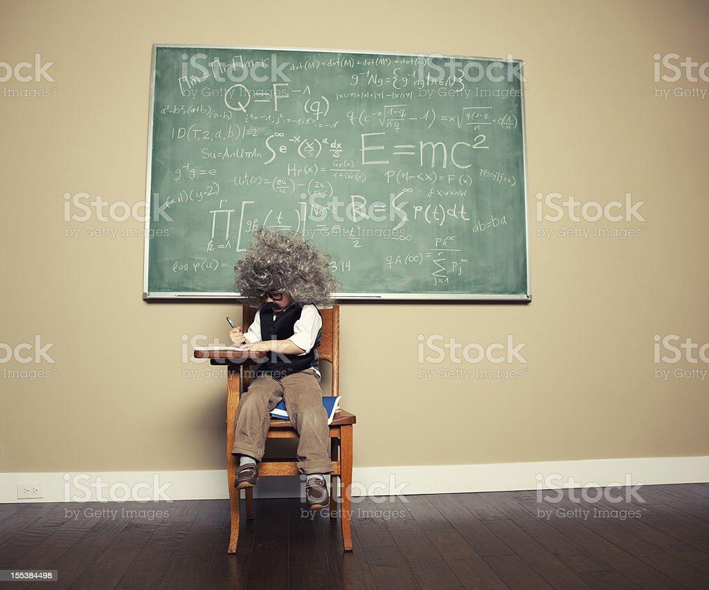 Little Math Guy royalty-free stock photo
