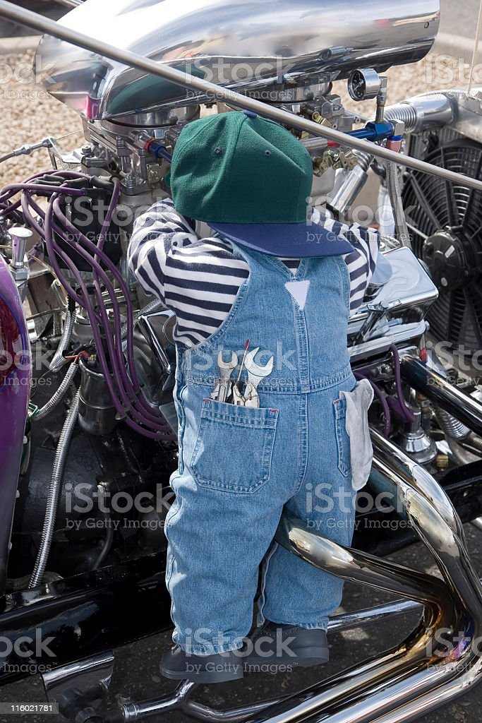Little Mechanic royalty-free stock photo