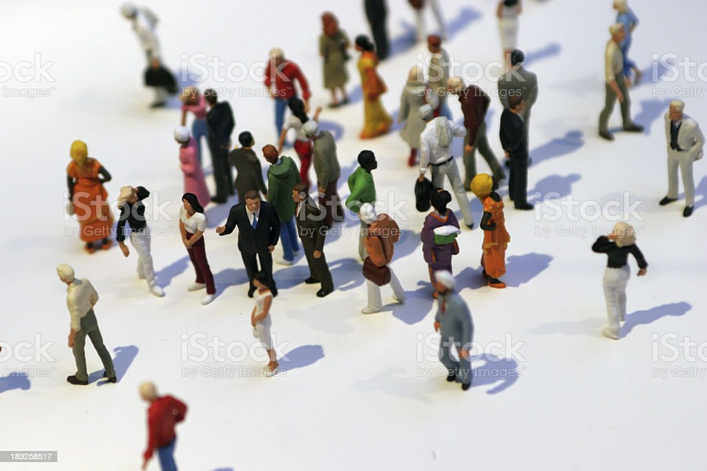 Little men stock photo