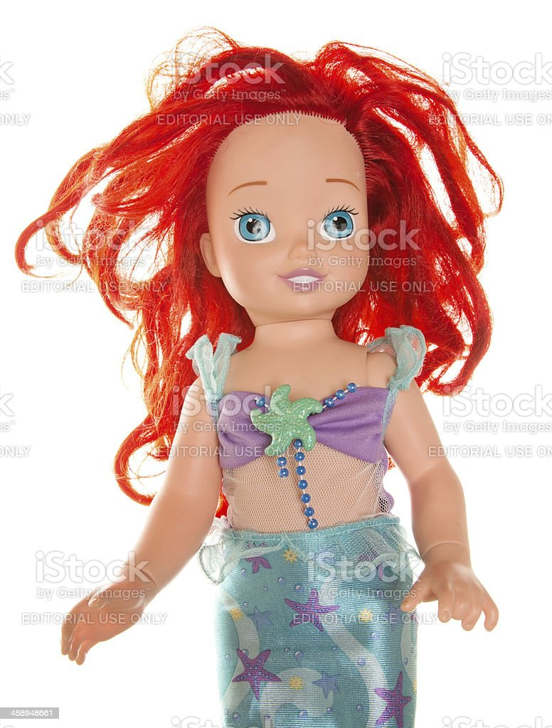 Little Mermaid Doll from Disney Movie stock photo