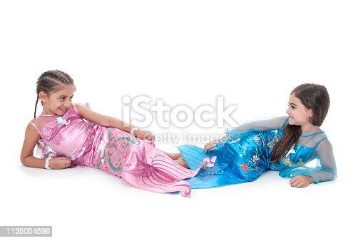 Mermaid girls isolated