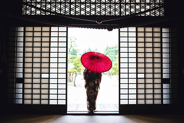 リトルミス芸者 - kimono ストックフォトと画像