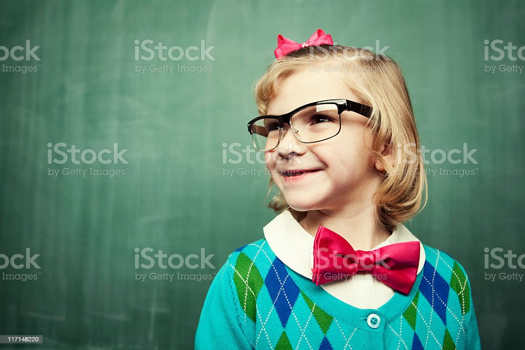 Little Miss Smarty Pants royalty-free stock photo
