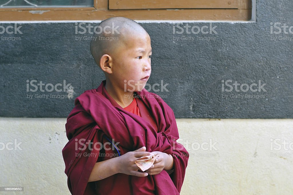 Little Monk with Money in his hands royalty-free stock photo