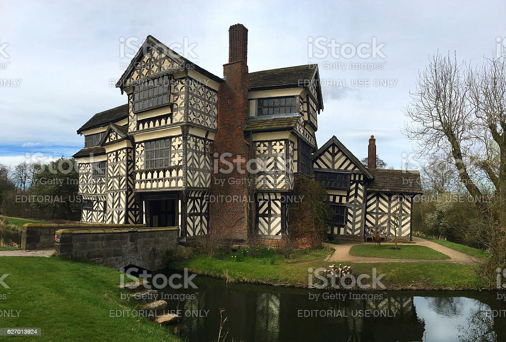 Little Moreton Hall. stock photo