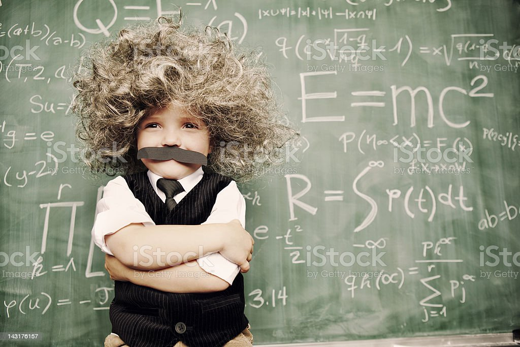 Little Mr. Smarty Pants royalty-free stock photo