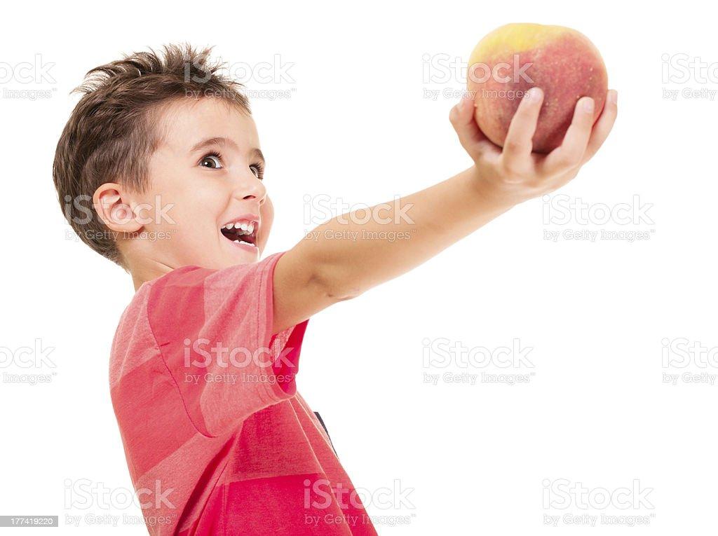 Bisschen frech junge outstretch der peach – Foto