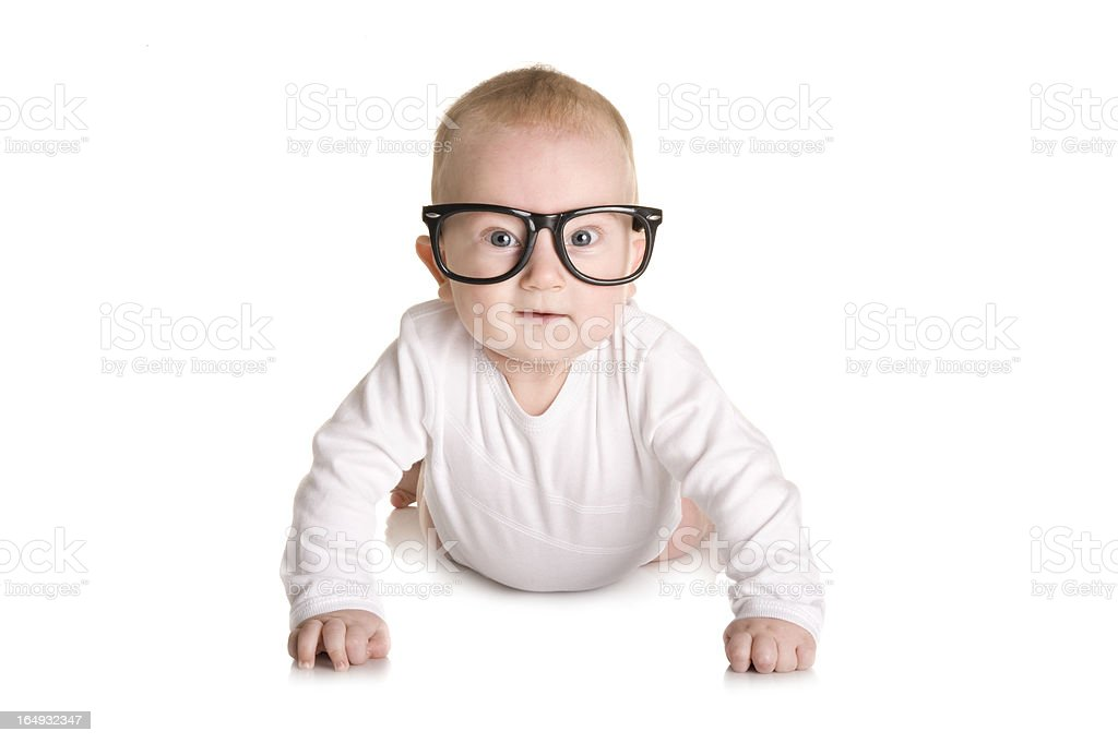 Little nerd royalty-free stock photo