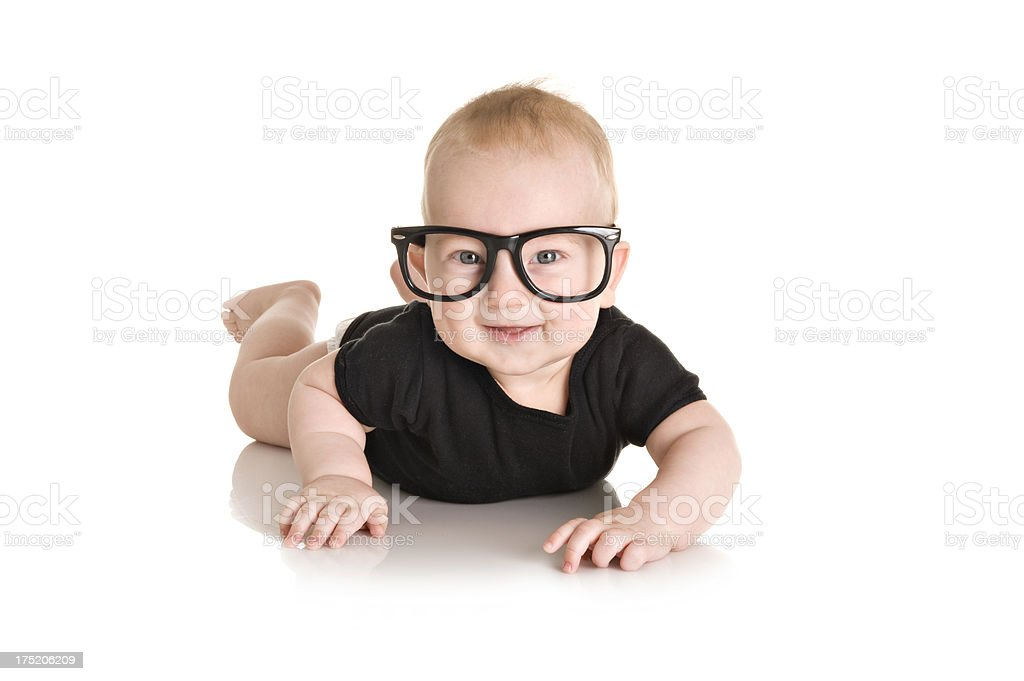 Little nerd stock photo