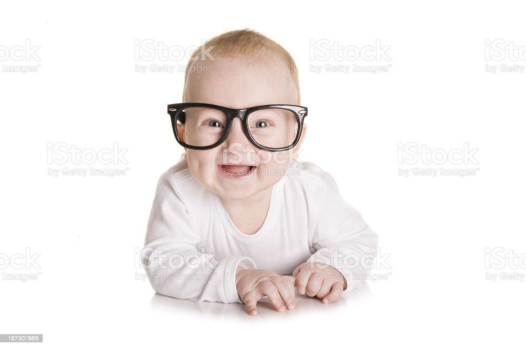 Little nerd royalty-free stock photo