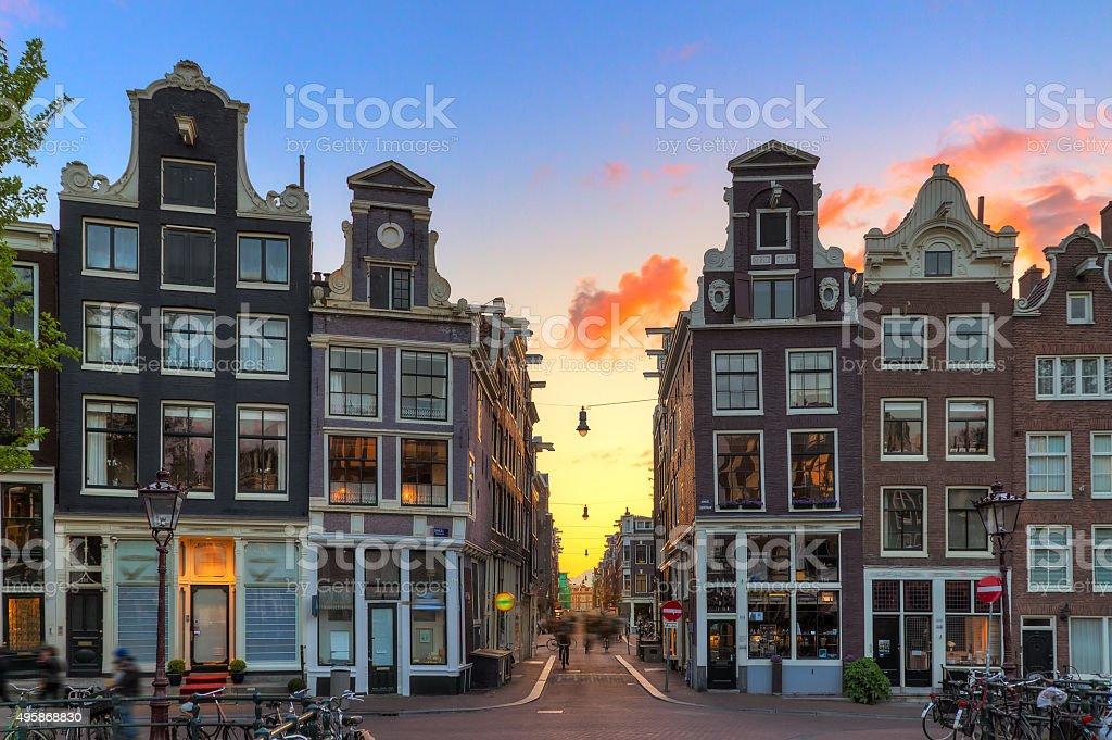 Little Nine Streets sunset stock photo