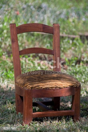This is a old chair. It is  arround 65 years old. Picture with strobists. Raw file.