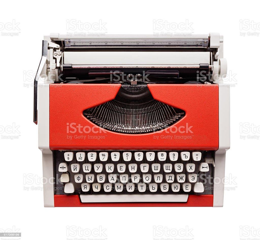 Little orange typewriter royalty-free stock photo
