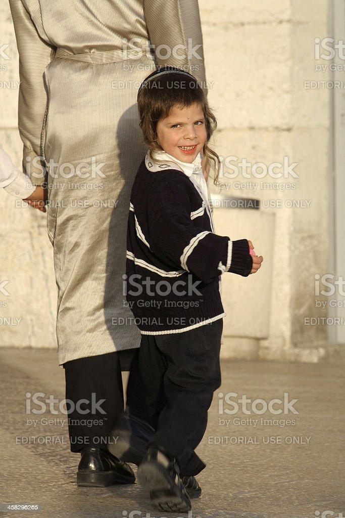 Little orthodox jew stock photo