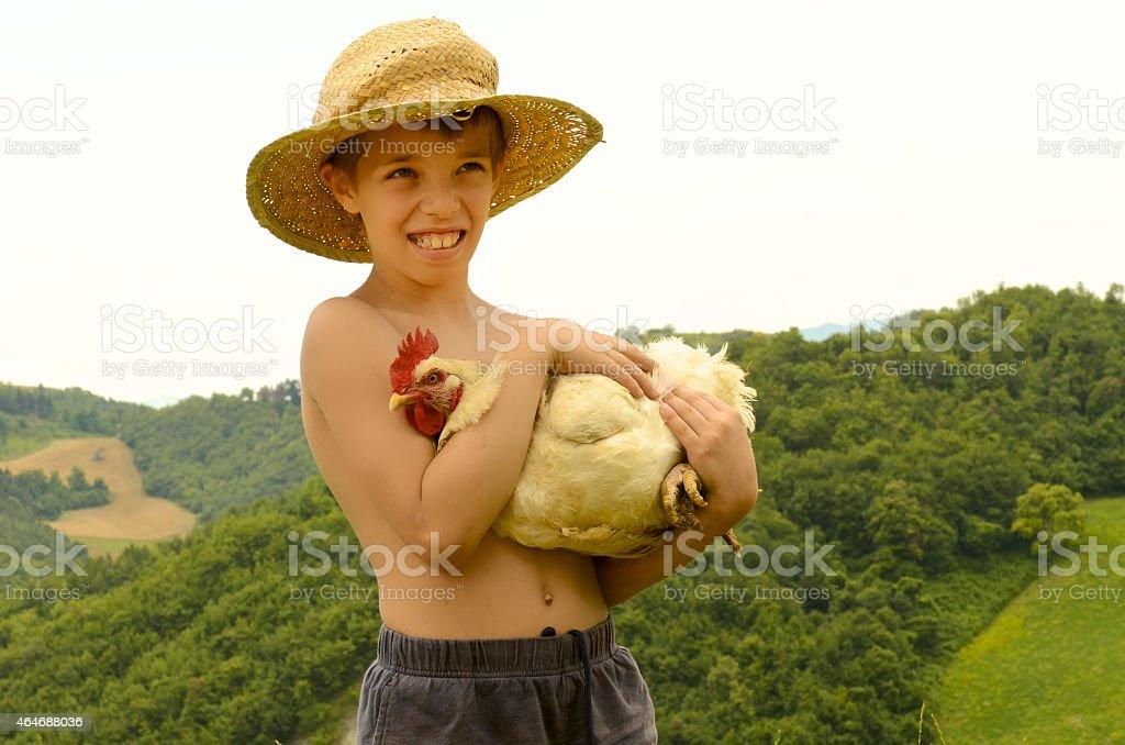 little paesant Umarmung hen – Foto