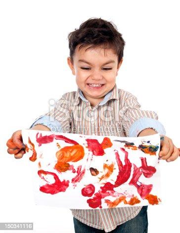 istock Little Painter 150341116