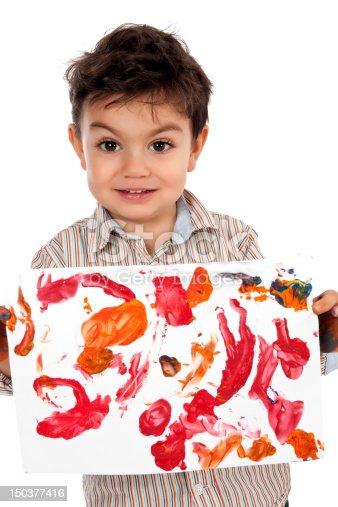 istock Little Painter 150377416