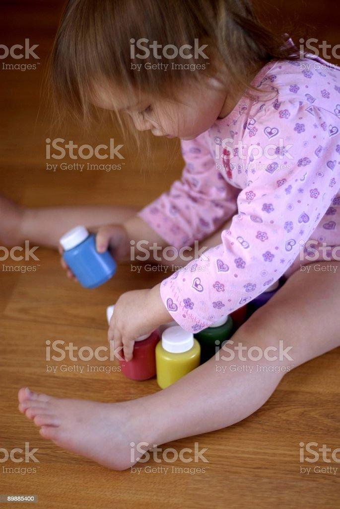 Little pintor foto de stock libre de derechos