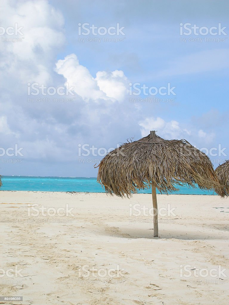 Little palapas royalty free stockfoto