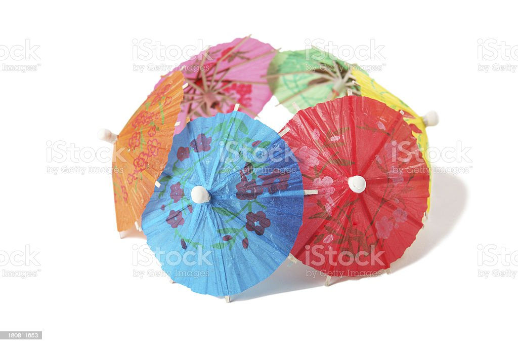 Little paper umbrellas royalty-free stock photo