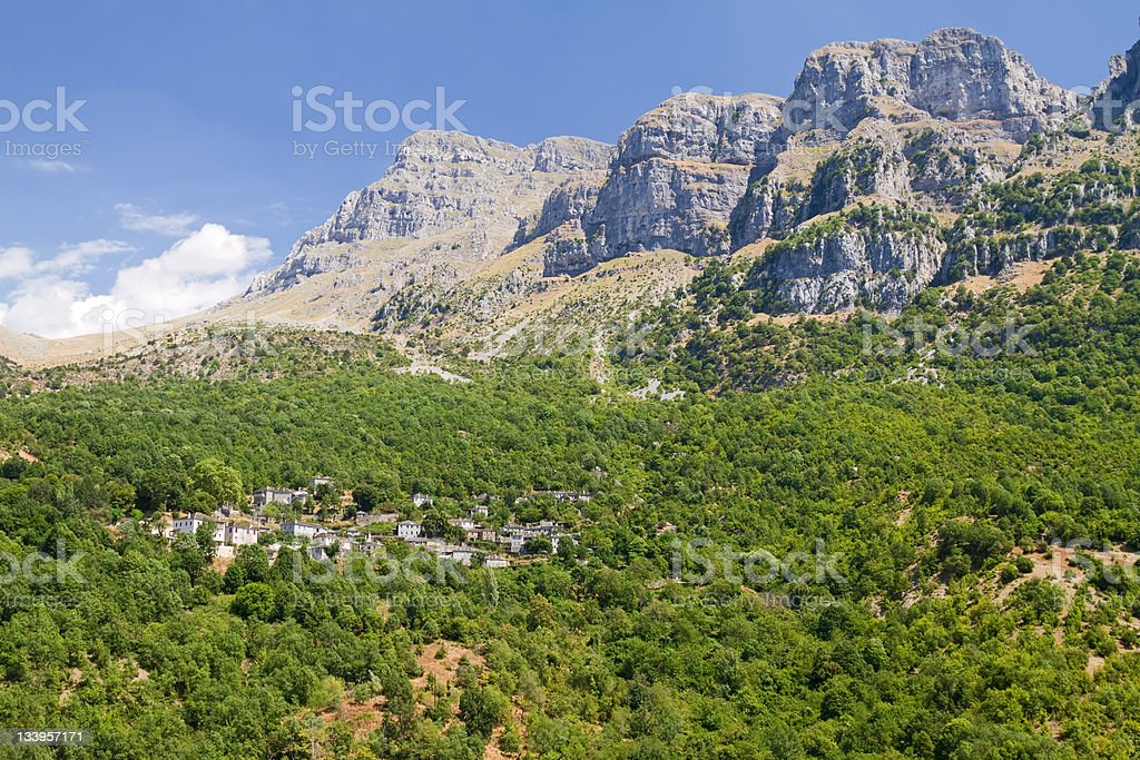 Little Papigo and Timphi Mountain stock photo