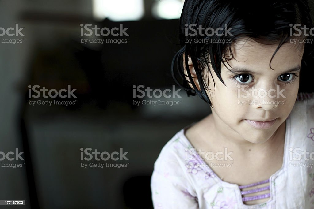 Little Pathan Girl stock photo