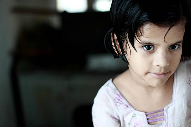 Little Pathan Girl stock photo