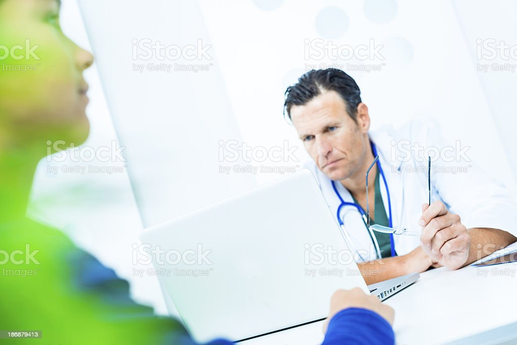 Little patient at the doctor's office royalty-free stock photo