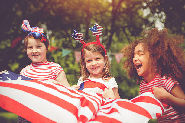 Little patriots stock photo