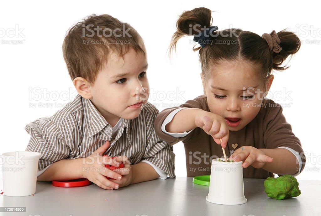 little people creating stock photo
