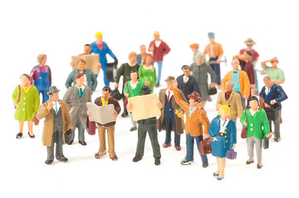 little people crowd figurines - figurine stock photos and pictures