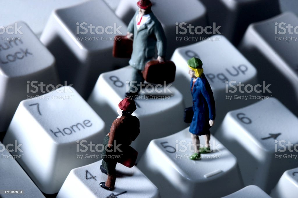 Little People - 'Home Key' royalty-free stock photo