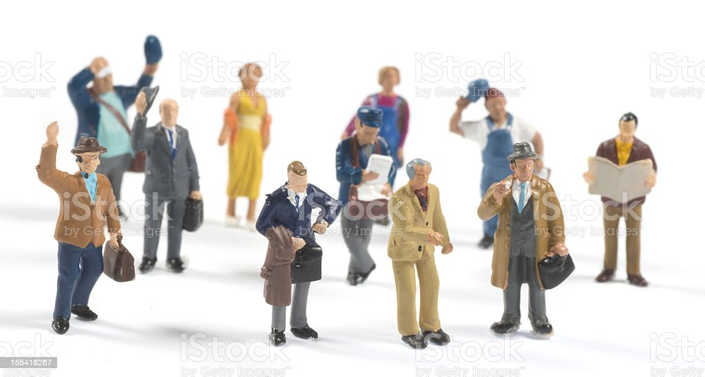 little people on white background stock photo