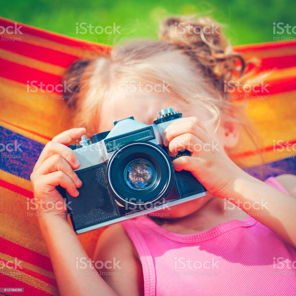 Little phpotographer stock photo