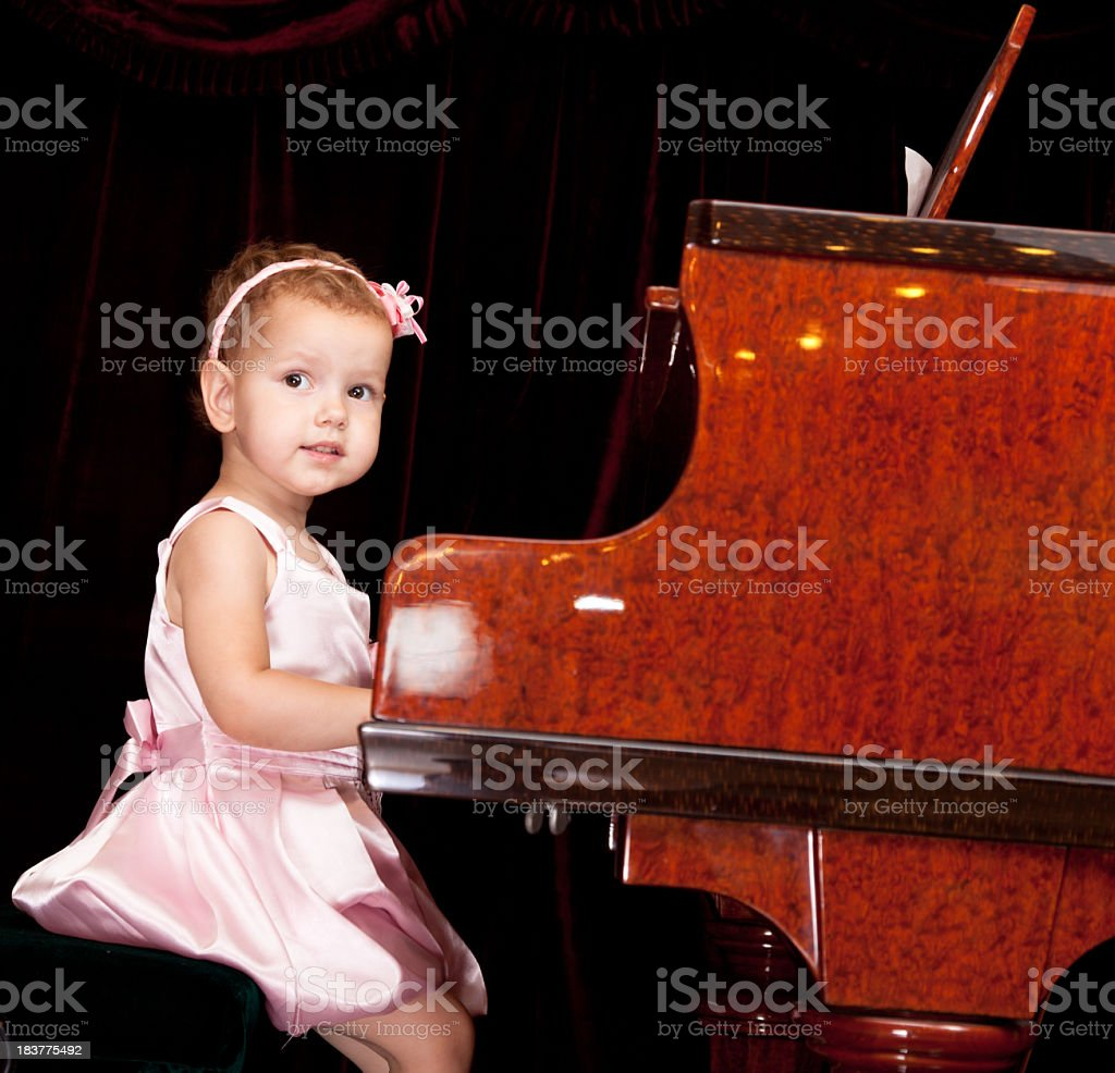 Little pianist royalty-free stock photo