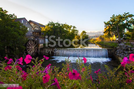 istock Little Pigeon River In Pigeon Forge Tennessee 1271717512