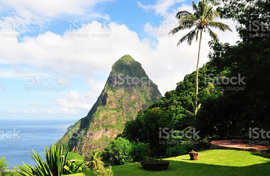 Petite Piton stock photo