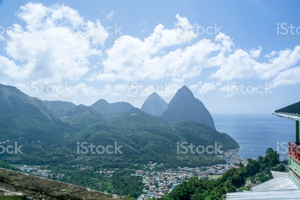 Petit Piton stock photo