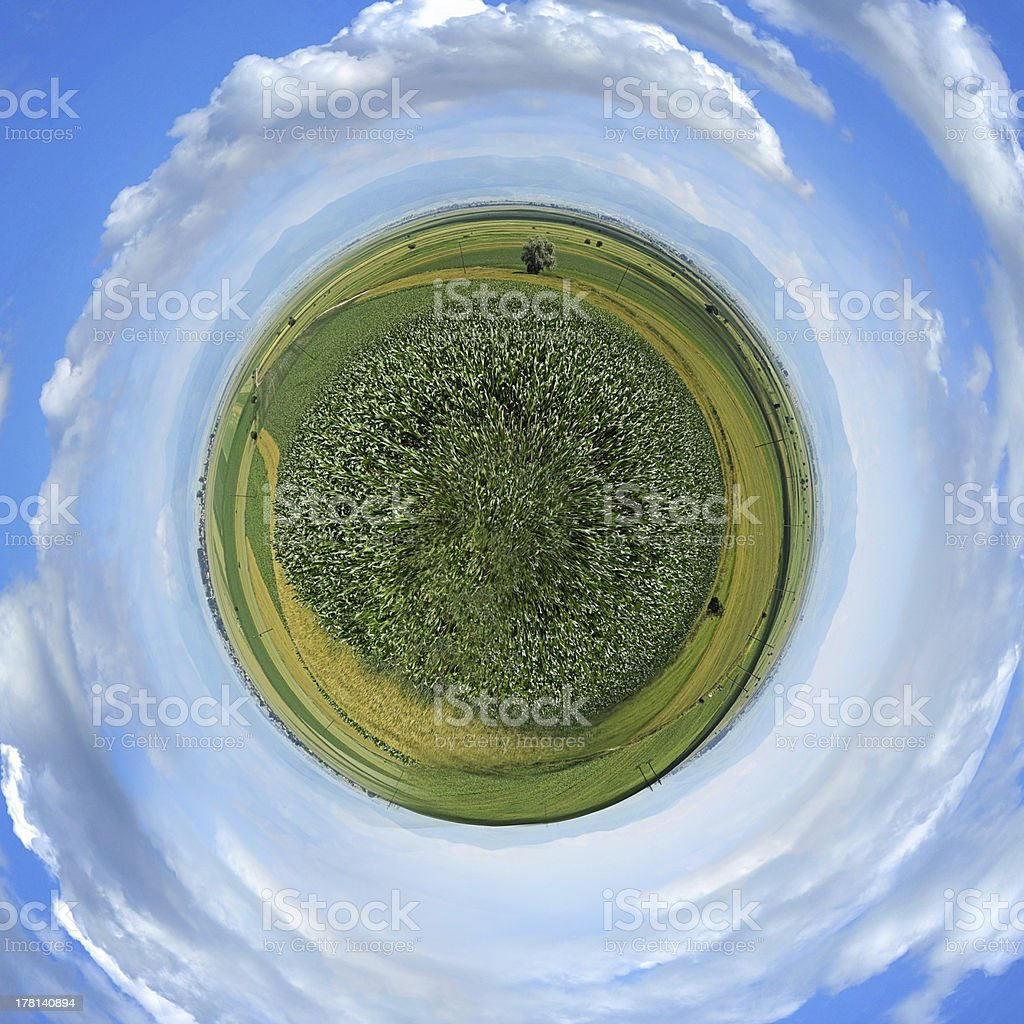 Little planet panorama royalty-free stock photo