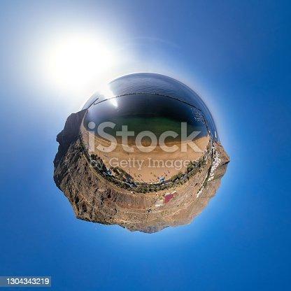 Spherical aerial of Playa de Las Teresitas beach, Tenerife