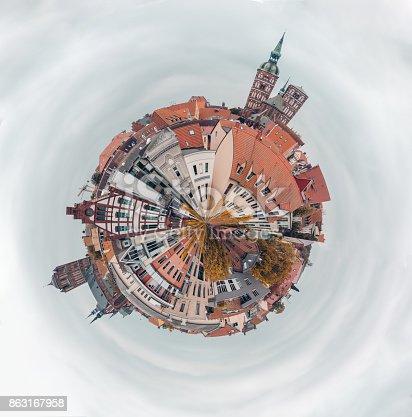 istock Little planet Stralsund 863167958