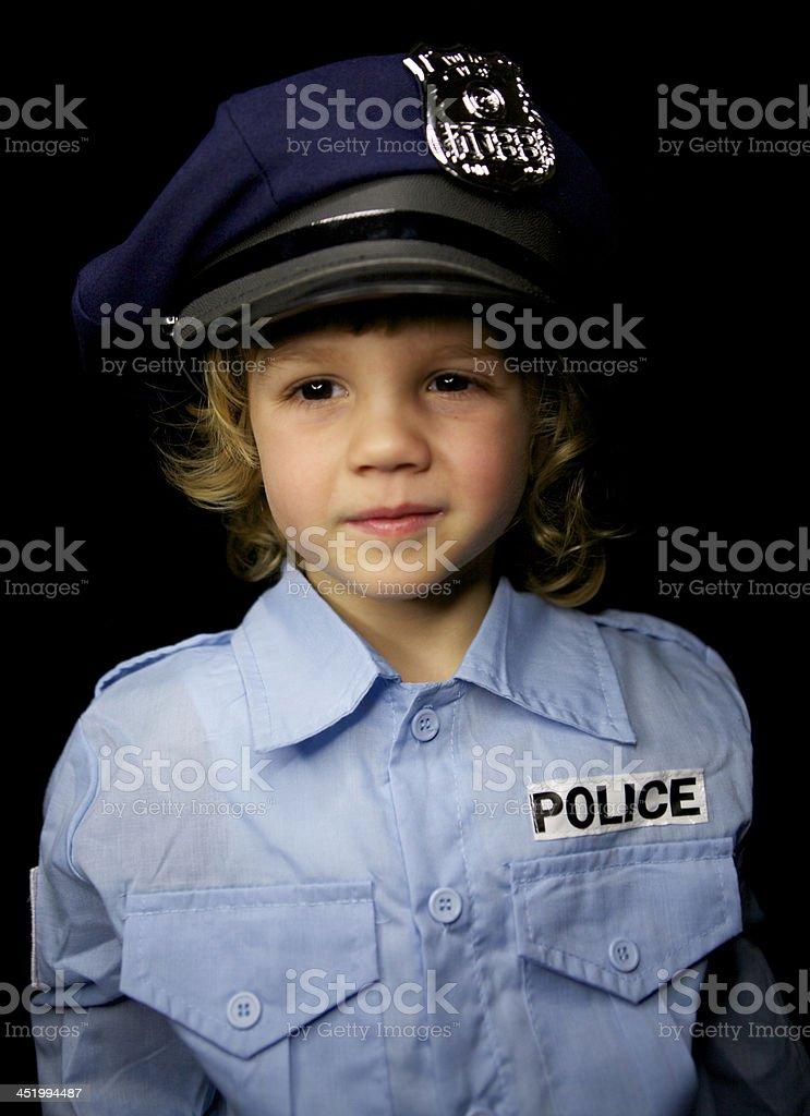 Little Policeman royalty-free stock photo