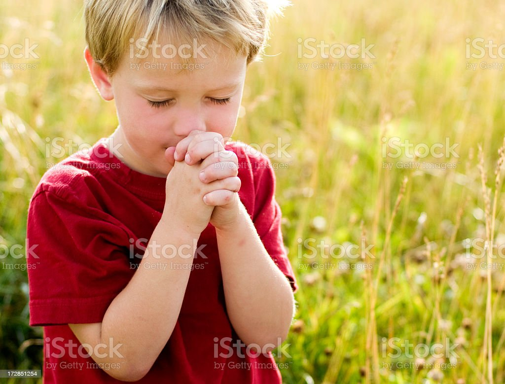 Little prayer 2 royalty-free stock photo