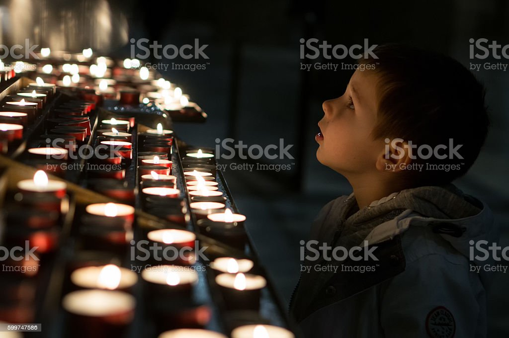 Little prayer stock photo
