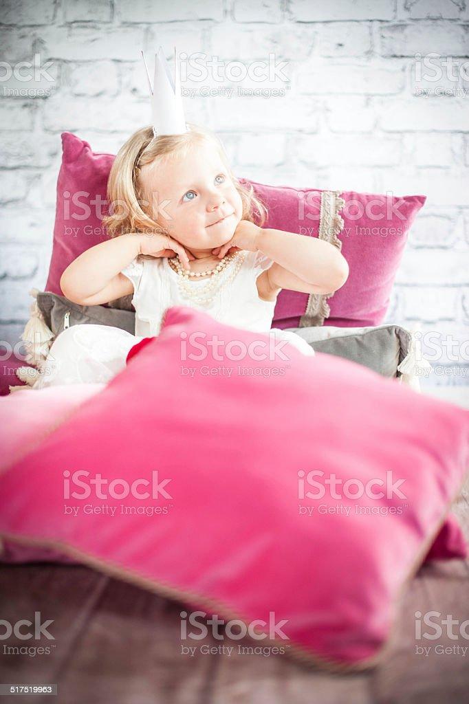 Little princess stock photo