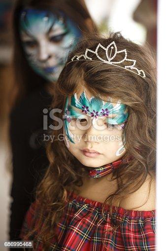 istock Little princess with tiara 686995468
