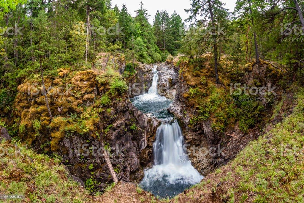 Little Qualicum Falls auf Vancouver Island, Kanada - Lizenzfrei Bach Stock-Foto