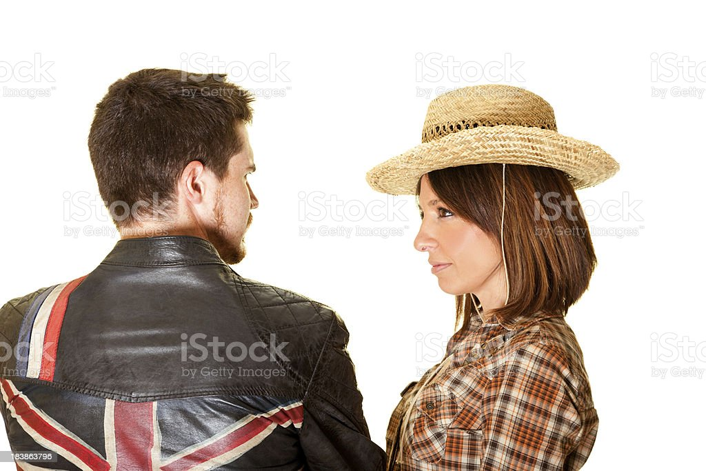 Little Quarrel Between Two Friends royalty-free stock photo