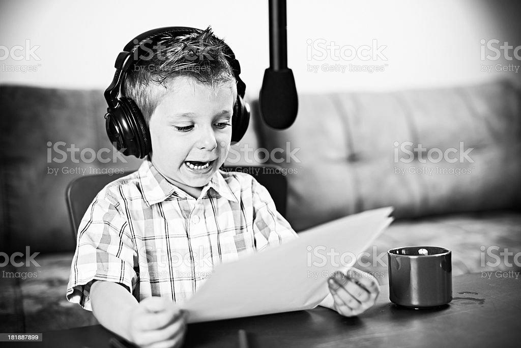 Little radio news stock photo
